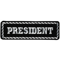 Hot Leathers President Patch