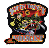 Hot Leathers Vets Don'T Forget Patch
