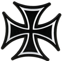 Hot Leathers Iron Cross Skinny Patch