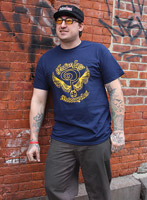 Indian Larry Men's Official Garage Navy T-shirt