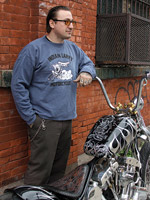 Indian Larry Eyeball Crew-Neck Fleece Sweatshirt