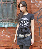 Indian Larry Ladies Legacy Logo Black T-shirt