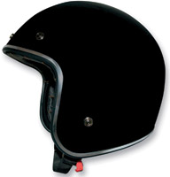 AFX FX-76 Black w/Chrome Trim Open Face Helmet