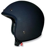 AFX FX-76 Flat Black Open Face Helmet
