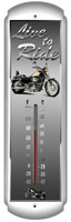 Live to Ride Metal Thermometer