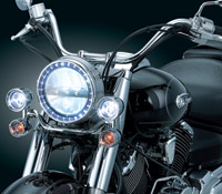 Kuryakyn LED Headlamp and Passing Lamp Conversion Kit