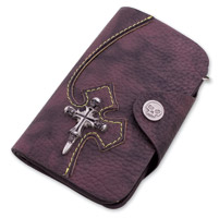 AMiGAZ Skull Cross Biker Wallet with Skull Snap