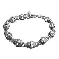 AMiGAZ Flat Skull Chain Bracelet