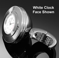 Highway Hawk Angle Chrome Handlebar Watch with Black Face