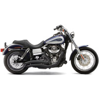 Cobra Speedster Short Swept Exhaust with Black Heat Shields