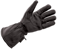 J&P Cycles® Black Deerskin Waterproof Gloves