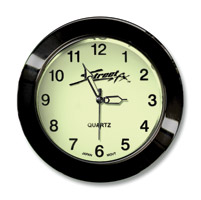 Street FX Super-Bright Black Handlebar Clock