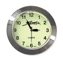 Street FX Super-Bright Chrome Handlebar Clock