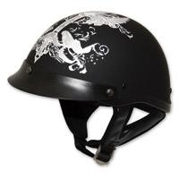 HCI-100 Designer Iron Wings Half Helmet