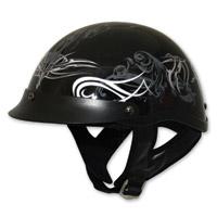 HCI-100 Designer Black Tribal Half Helmet