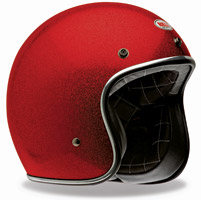 Bell Custom 500 Red Flake 3/4 Open Face Helmet