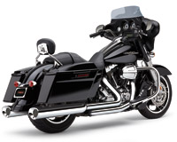 Cobra Tri-Flo Slip On Mufflers Chrome with Chrome Tips