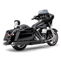 Cobra Tri-Flo Slip On Mufflers Black with Chrome Tips
