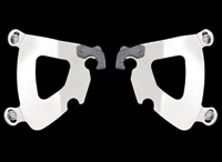 Memphis Shades Gauntlet Fairing Polished Plate-Only Hardware Kit