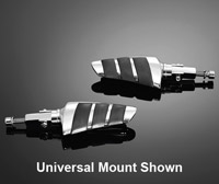 Highway Hawk Footpeg Sets Universal with 'U'-clamps