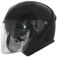 Zox Sierra SVS Glossy Black Open Face Helmet