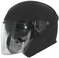 Zox Sierra SVS Matte Black Open Face Helmet