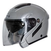 Zox Sierra SVS Glossy Silver Open Face Helmet