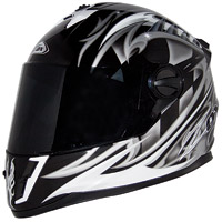 Zox Savo G2 Junior Equniox Silver/Black Full Face Helmet