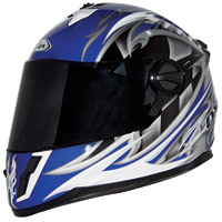 Zox Savo G2 Junior Equinox Blue/Silver Full Face Helmet