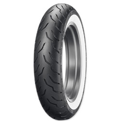 Dunlop American Elite 130/90B16 Wide Whitewall Front Tire