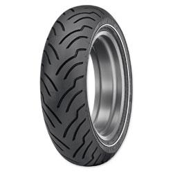 Dunlop American Elite 180/65B16 Narrow Whitewall Rear Tire