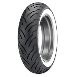 Dunlop American Elite 180/65B16 Wide Whitewall Rear Tire