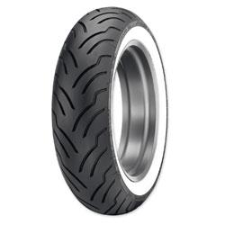 Dunlop American Elite 180/65B16 Wide Whitewall Rear Tire