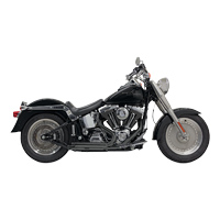 Bassani Pro-Street Black Exhaust System with Slash-cut Ends