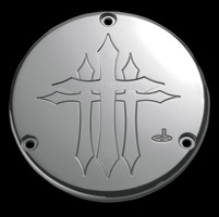 Carl Brouhard Designs Cross Series Chrome Derby Cover