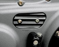 Joker Machine Finned Black Anodized Inspection Cover