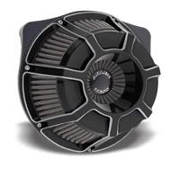 Arlen Ness Inverted Series Beveled Black Air Cleaner Kit