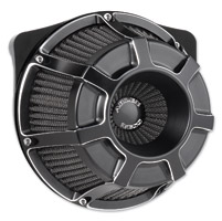 Arlen Ness Inverted Series Beveled Black Air Cleaner Kit