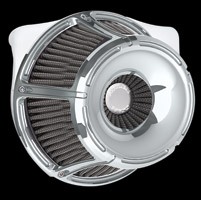 Arlen Ness Inverted Series Slot Track Chrome Air Cleaner Kit