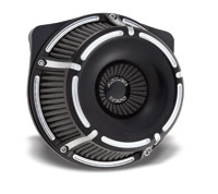 Arlen Ness Inverted Series Slot Track Black Air Cleaner Kit