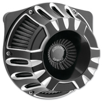 Arlen Ness Inverted Series Deep Cut Black Air Cleaner Kit