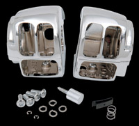 Drag Specialties Chrome Switch Housing Kit without Switches