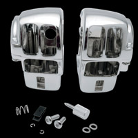 Drag Specialties Chrome Switch Housing Kit