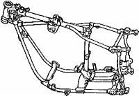 Replica Big Twin Swingarm Frame