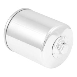 K&N High Performance Chrome Spin-on Oil Filter