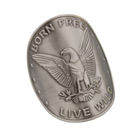 DC Medallions Patriotic Eagle - Born Free Live Wild Medallion