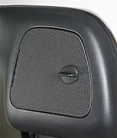 eGlide Goodies Sealed, Non-Lockable Glove Box Doors with Black Knobs
