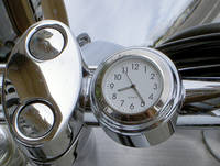 Riders Passion 1″ Handlebar Mount White Clock