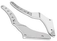 Roland Sands Design Chrome Tracker Rear Fender Conversion Kit Struts Only