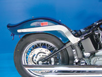 Milwaukee Twins Chrome Smooth Style Fender Struts for Softail